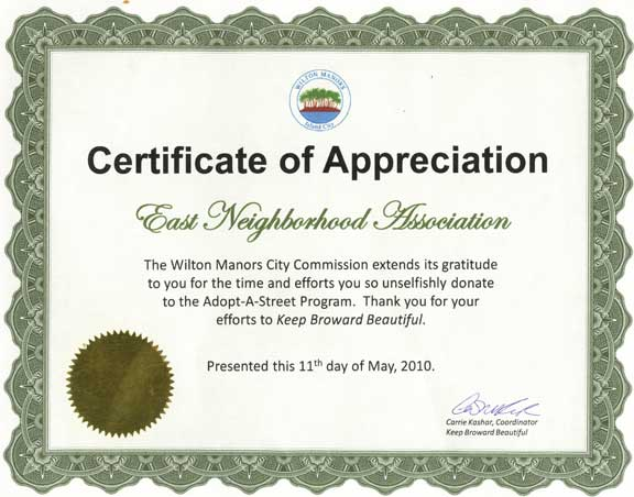 Thank You Appreciation Certificate Free